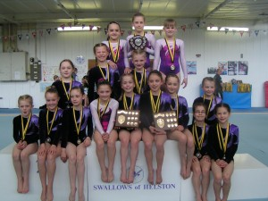 Club 11 & Under gymnasts 21013